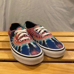 Vans Tie Dye Low Canvas Shoes Women Size 6.5